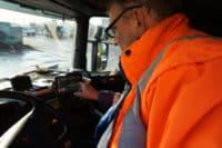 Übermittlung von Infos auf Tablet des Fahrers